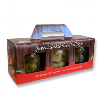 Spreewald Müller-Drillinge - 3 x 435ml Gurkenbox *1