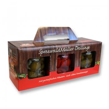 Spreewald Müller-Drillinge - 3 x 435ml Gurkenbox *2