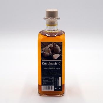 Knoblauch Öl Gewürzöl aus kaltgepresstem Rapsöl 500ml