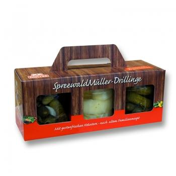 Spreewald Müller-Drillinge - 3 x 435ml Gurkenbox *3
