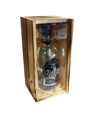 BillGin 0,5L in der Holz Geschenkkiste