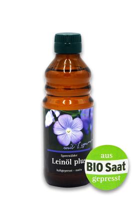 Leinöl Plus, mit Lignan, ungefiltert- kaltgepresst- nativ 250ml