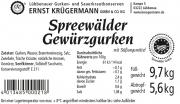 Spreewälder Gewürzgurke vom Fass 10,2 l --- 80 - 90 Stk.