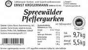 Spreewälder Pfeffergurken vom Fass 10,2 l --- 80 - 90 Stk.