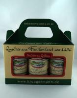 Gurken Box aus 3 verschiedenen Sorten 3 x 370ml *3