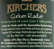 Kirchers Gurkenradler 0,33l