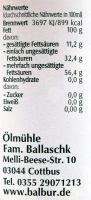 Leindotteröl Balbur B. 250ml