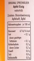 Apfel Essig aus dem Spreewald,5% Säure, naturtrüb - 500ml