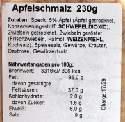 Spreewälder Apfelschmalz 230g