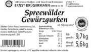 Spreewälder Gewürzgurke vom Fass 10,2 l --- 50 - 60 Stk.
