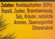 Knoblauchzehen mit Kräutern in Rapsöl von Rabe 185g