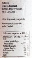 Spreewaldsenf Ingwer 190ml