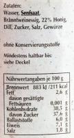 Spreewaldsenf Honig-Dill 190ml